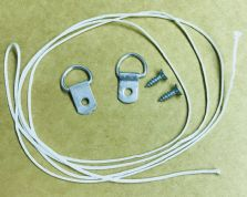 Hanging Kit Single D-Rings, Screws and Cord